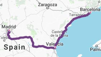 Barcelona-Valencia-Madrid