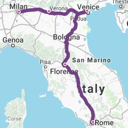 Milan-Lake Garda-Venice-Florence-Rome