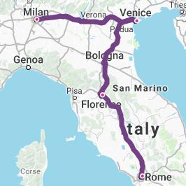 Milan-Venice-Florence-Rome