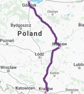 Krakow-Warsaw-Gdansk